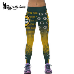 [You're My Secret] Green Bay Packers 3D Digital Printing G Fitness Leggings Women High Waist Workout Legging Jeggings Pants