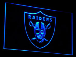 b053 Oakland Raiders Football Bar LED Neon Sign with On/Off Switch 7 Colors 4 Sizes to choose