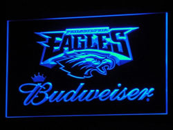 b284 Philadelphia Eagles Budweiser LED Neon Sign with On/Off Switch 7 Colors 4 Sizes to choose Plastic Crafts