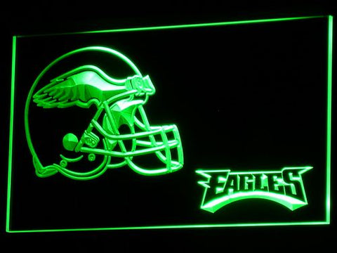 b332 Philadelphia Eagles Helmet Bar LED Neon Sign with On/Off Switch 7 Colors 4 Sizes to choose