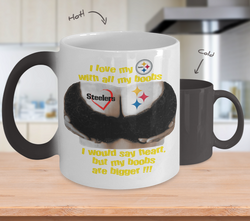 Steelers Boobs color changing Mug left