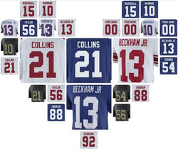 new york ny giants odell beckham jr jersey eli manning lawrence taylor Evan Engram men youth women kids custom american  jerseys