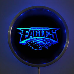 rs-b0054 Philadelphia Eagles LED Neon Round Signs 25cm/ 10 Inch - Bar Sign with RGB Multi-Color Remote Wireless Control Function