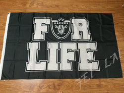 top qulity 3x5ft cheap polyester Oakland Raiders for life flag with 2 metal grommets