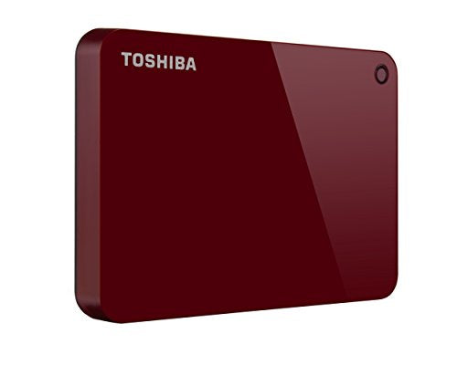 Toshiba Canvio Advance 1TB Portable External Hard Drive USB 3.0, Red (HDTC910XR3AA) - imobile mx