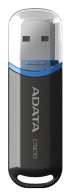 ADATA 16 GB Memoria Flash USB 2.0 con Tapa Color Negro con Azul (Modelo C906) - imobile mx