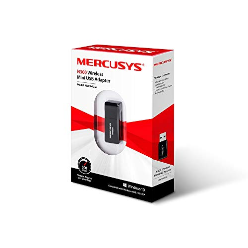 ADAPTADOR DE RED WIFI MERCUSYS MW300UM, USB, INALAMBRICO, 300MBIT/S, 2.4GHZ - imobile mx