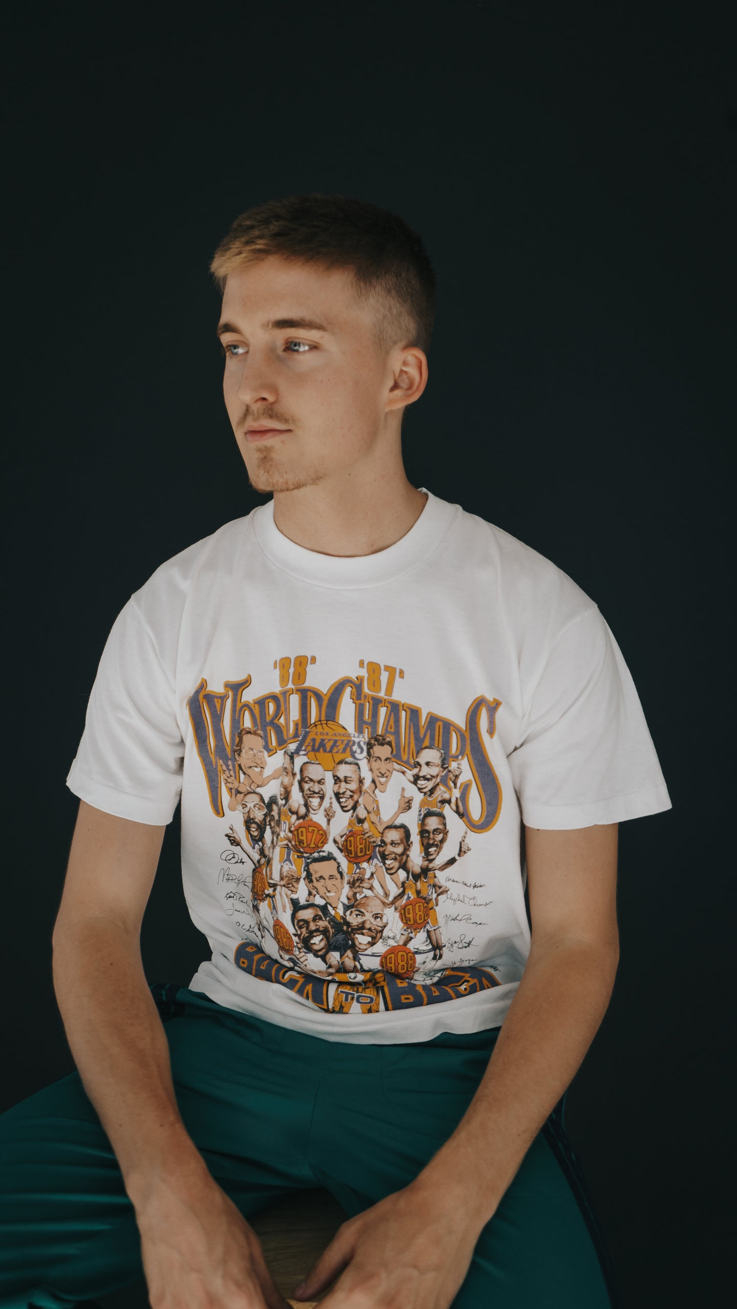 1987 Lakers champions tee