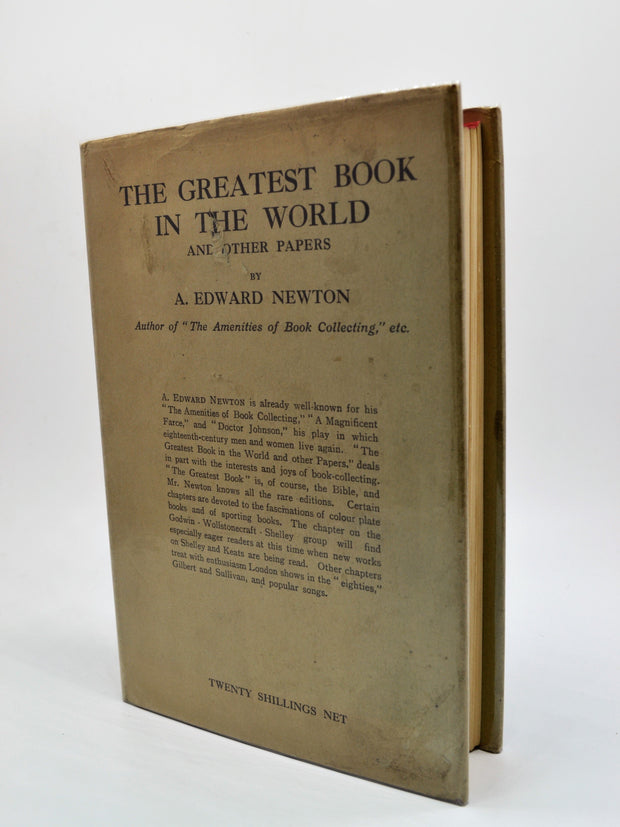 A Edward Newton | The Greatest Book in the World | Rare Books