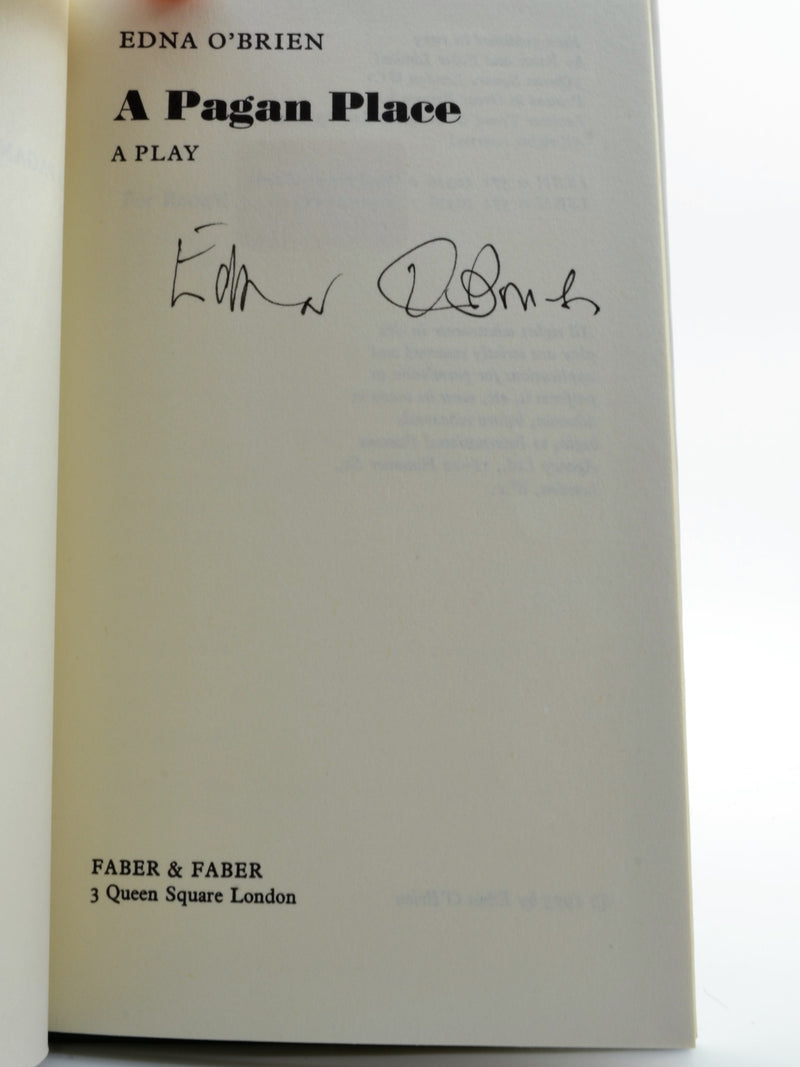 O'Brien, Edna - A Pagan Place - SIGNED