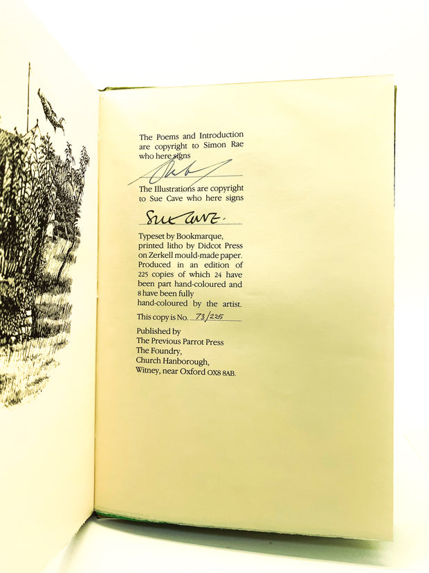 Rae, Simon - Listening to the Lake : Poems and Drawings from Garsington & Great Tew  - SIGNED