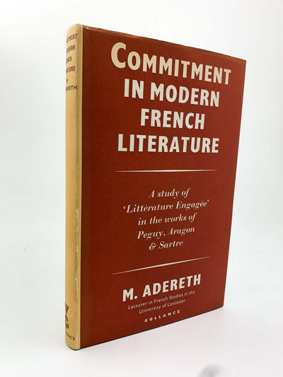 Adereth, M - Commitment in Modern French Literature | front cover