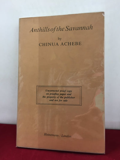 Achebe, Chinua - Anthills of the Savannah | front cover