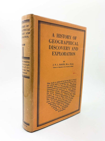 Baker, J N L - A History of Geographical Discovery and Exploration | image1