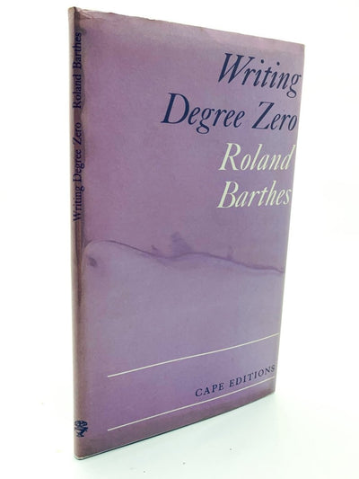 Barthes, Roland - Writing Degree Zero ( uncorrected proof copy ) | front cover