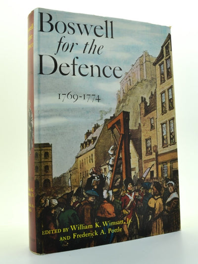 Boswell, James - Boswell for the Defence | front cover