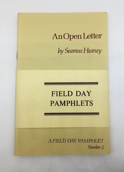 Deane, Seamus : Heaney, Seamus; Paulin, Tom - Field Day Pamphlets Numbers 1-3 | front cover