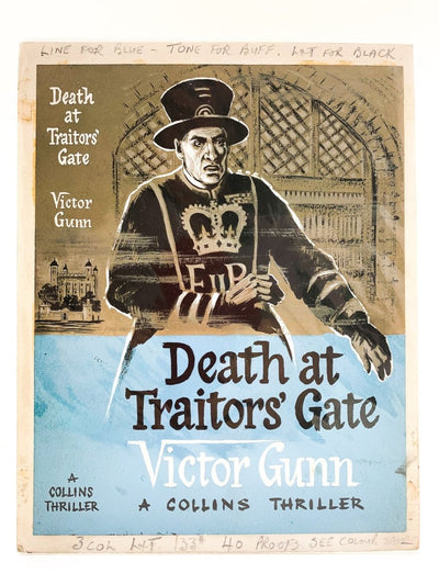 Gunn, Victor - Death at Traitor's Gate ( Original Dustwrapper Artwork ) | front cover