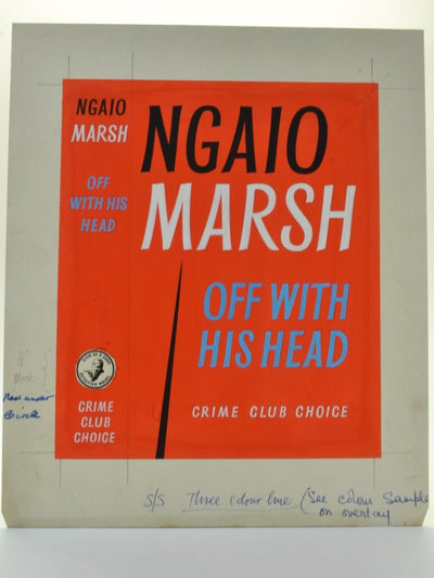 Marsh, Ngaio - Off With His Head ( Original Dustwrapper Artwork ) | front cover