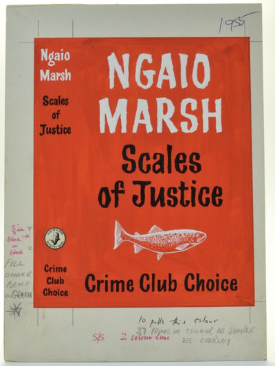 Marsh, Ngaio - Scales of Justice ( Original Dustwrapper Artwork ) | front cover