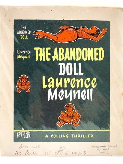 Meynell, Laurence - The Abandoned Doll ( Original Dustwrapper Artwork ) | front cover