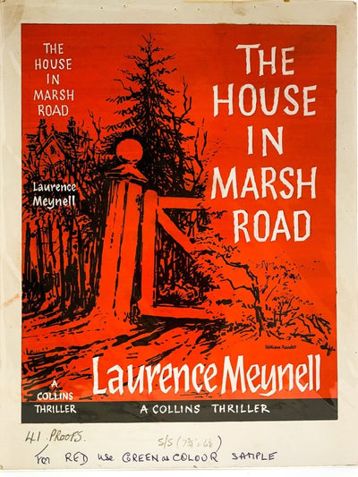 Meynell, Laurence - The House in Marsh Road ( Original Dustwrapper Artwork ) - SIGNED | front cover