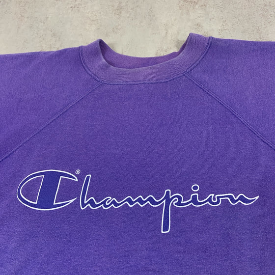 Vintage Champion Short Sleeve Sweater Large