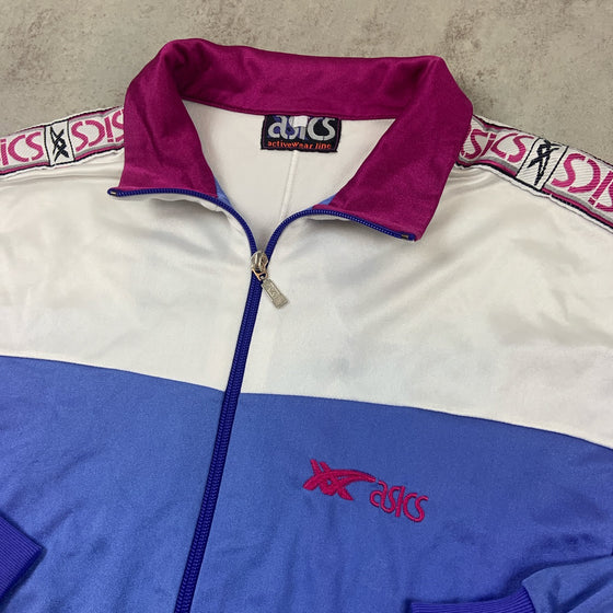 Women's Vintage Asics Track Top Medium