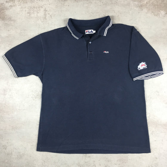 Vintage Fila 'Tour De Suisse' Polo Shirt Large
