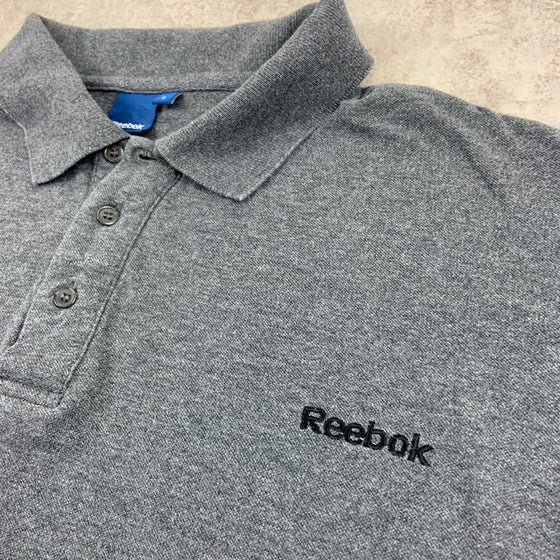 Vintage Reebok Long Sleeve Polo Shirt Medium