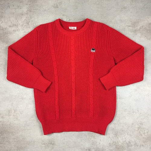 Vintage Kappa Cable Knit Sweater Small bde93c7c2d0d0
