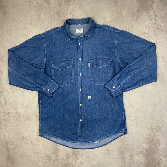 Vintage Valentino Denim Shirt Large