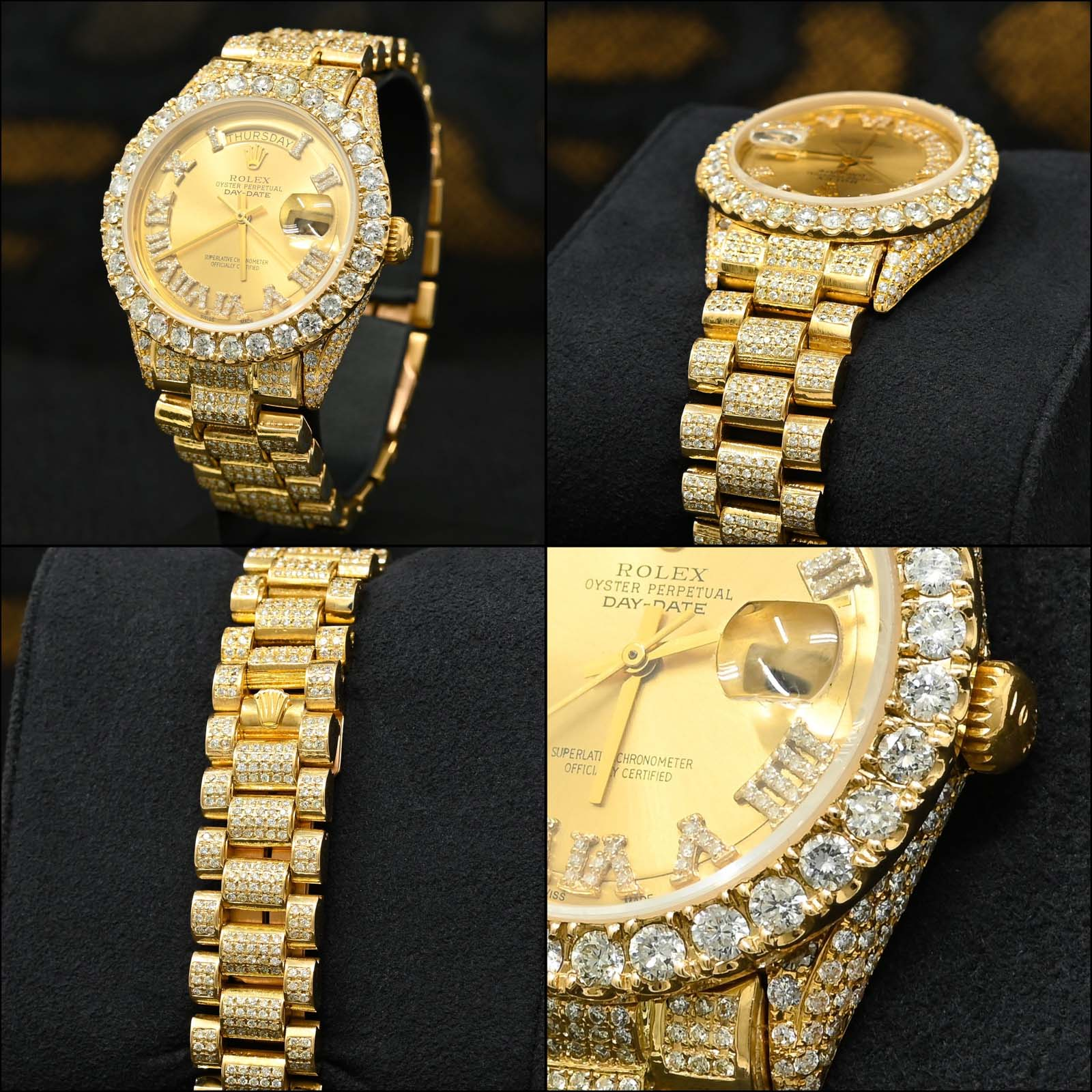 Montre Rolex Day-Date Full Iced Out