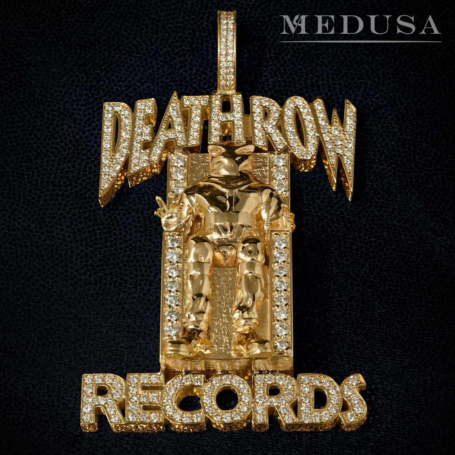 Pendentif Deathrow Record en Or et Diamant