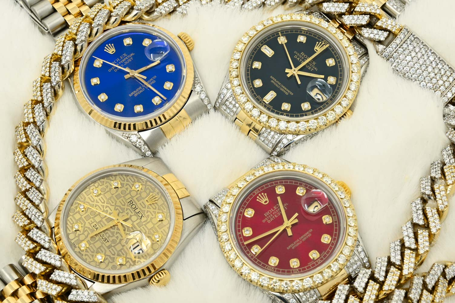 Montre Rolex Iced Out Diamant Datejust Authentique