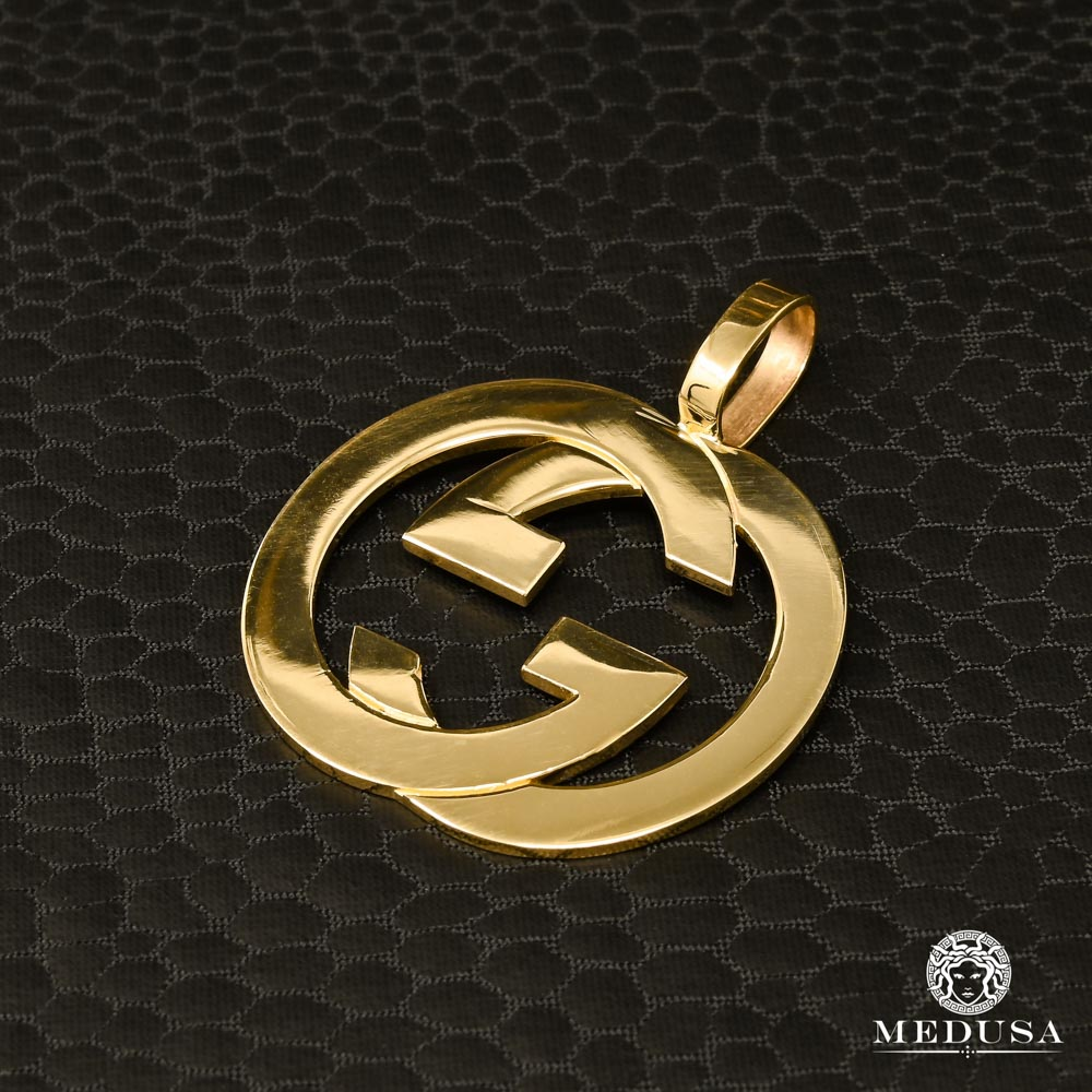 Pendentif Gucci Interlock en Or Jaune 10K