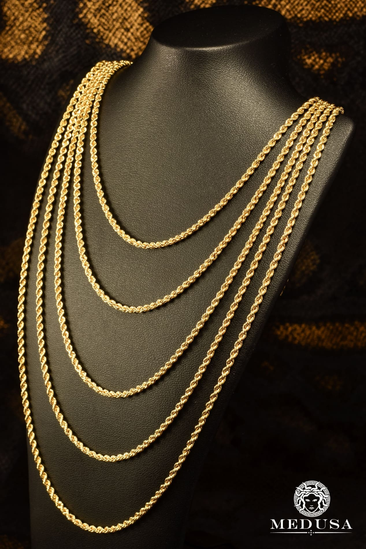 10K Gold Channel Chain 2.5mm Torsade
