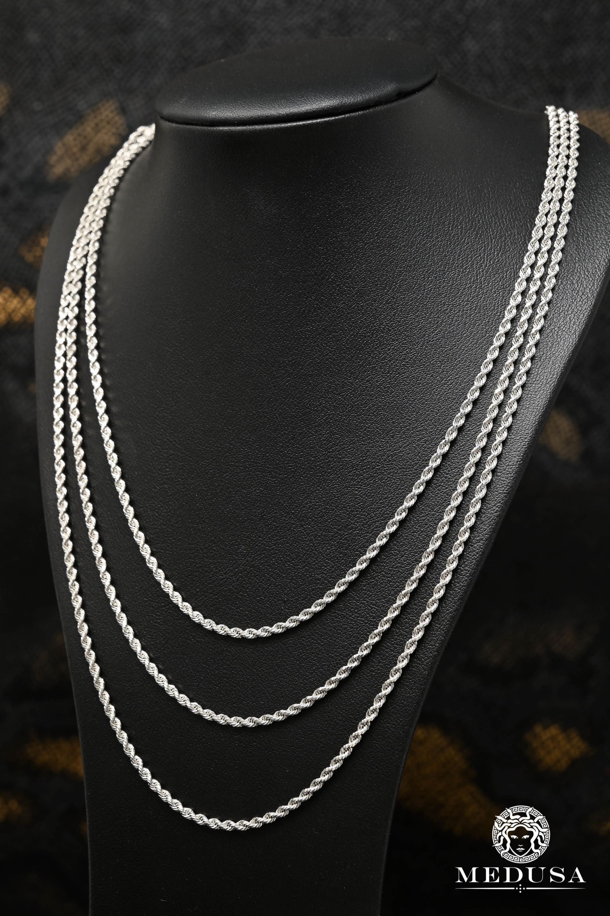 2.5mm White Gold Rope
