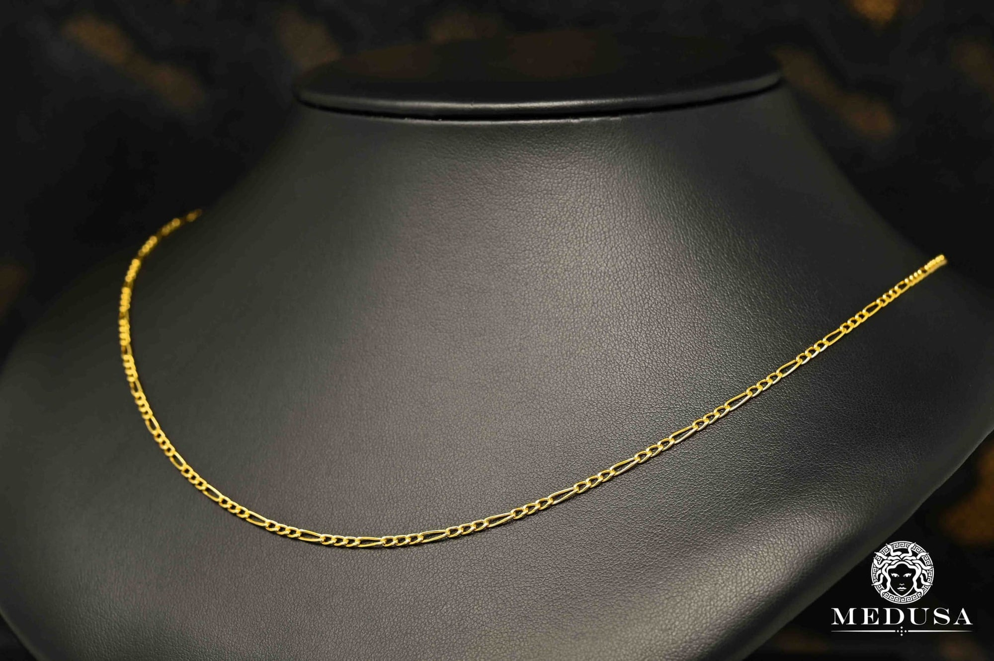 Gold chain 10K Gourmette chain 2mm Figaro Hollow