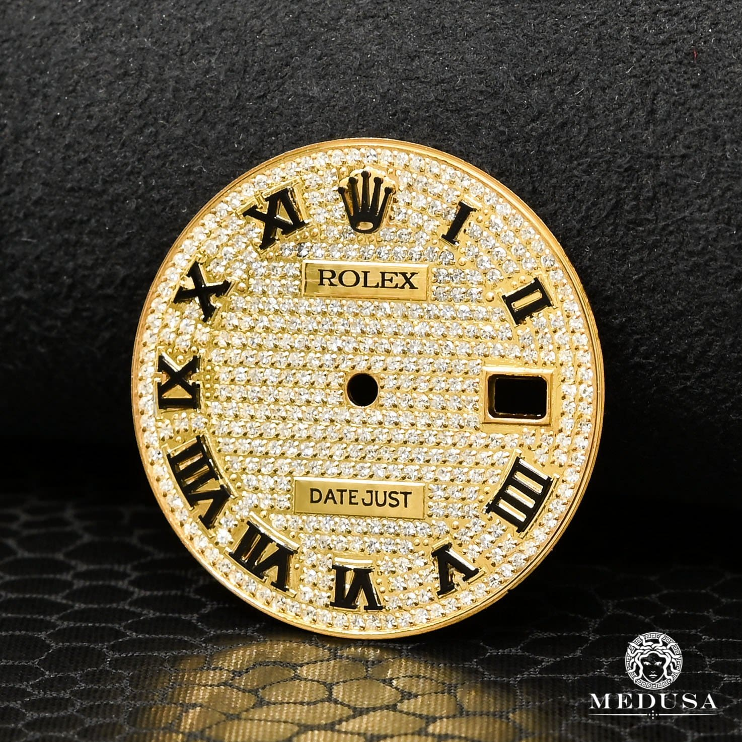 36mm Rolex Dial Gold Iced