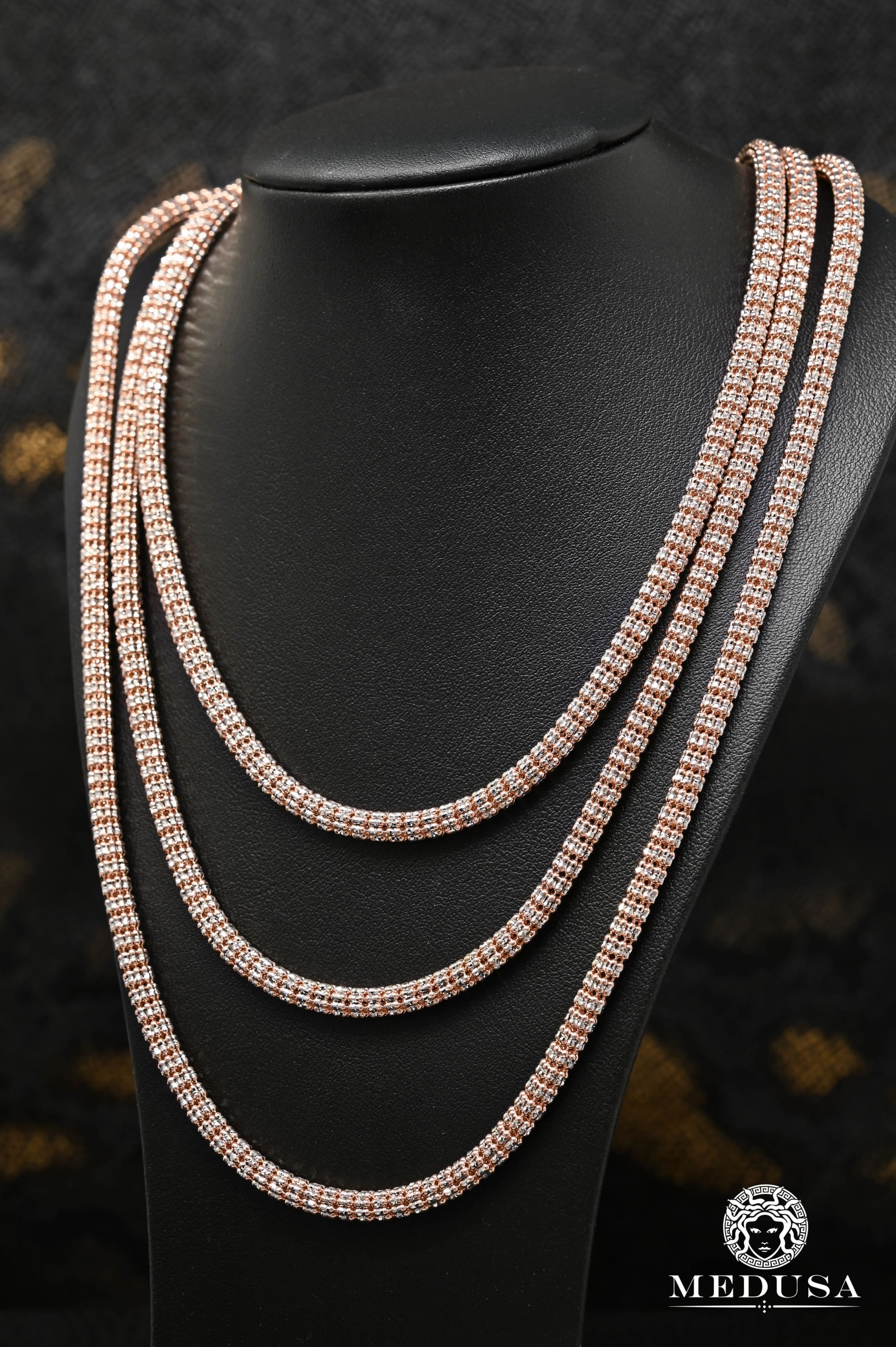 4.5mm Ice Chain Or Rose 2 Tons