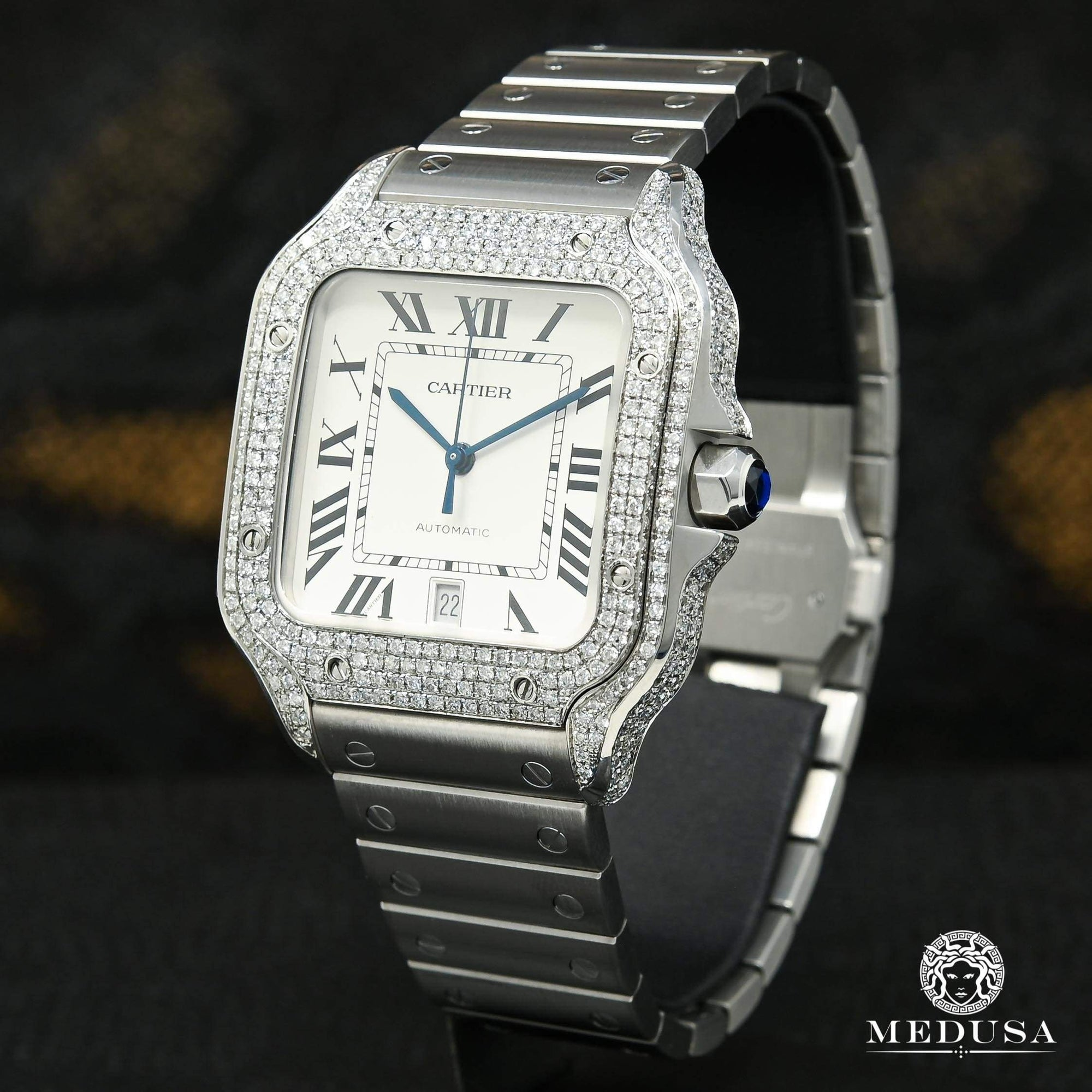 40mm Cartier Santos 100 XL - Iced