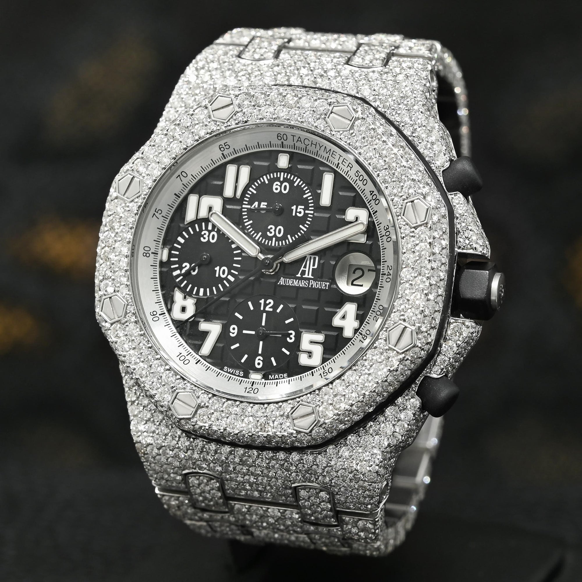 Montre Audemars Piguet | Montre Homme 42mm Audemars Piguet Offshore - Black Iced Stainless