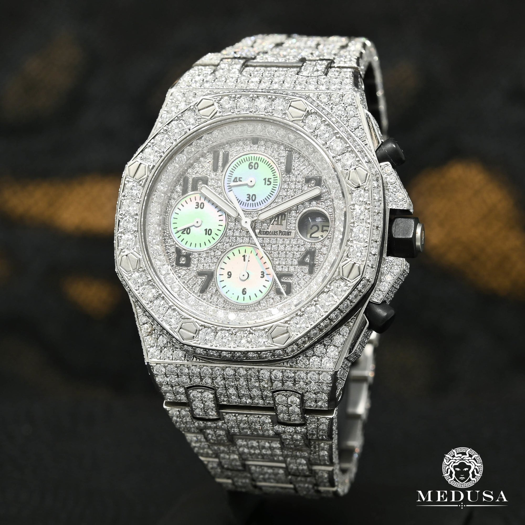 Montre Audemars Piguet | Montre Homme 42mm Audemars Piguet Offshore - Iced Stainless