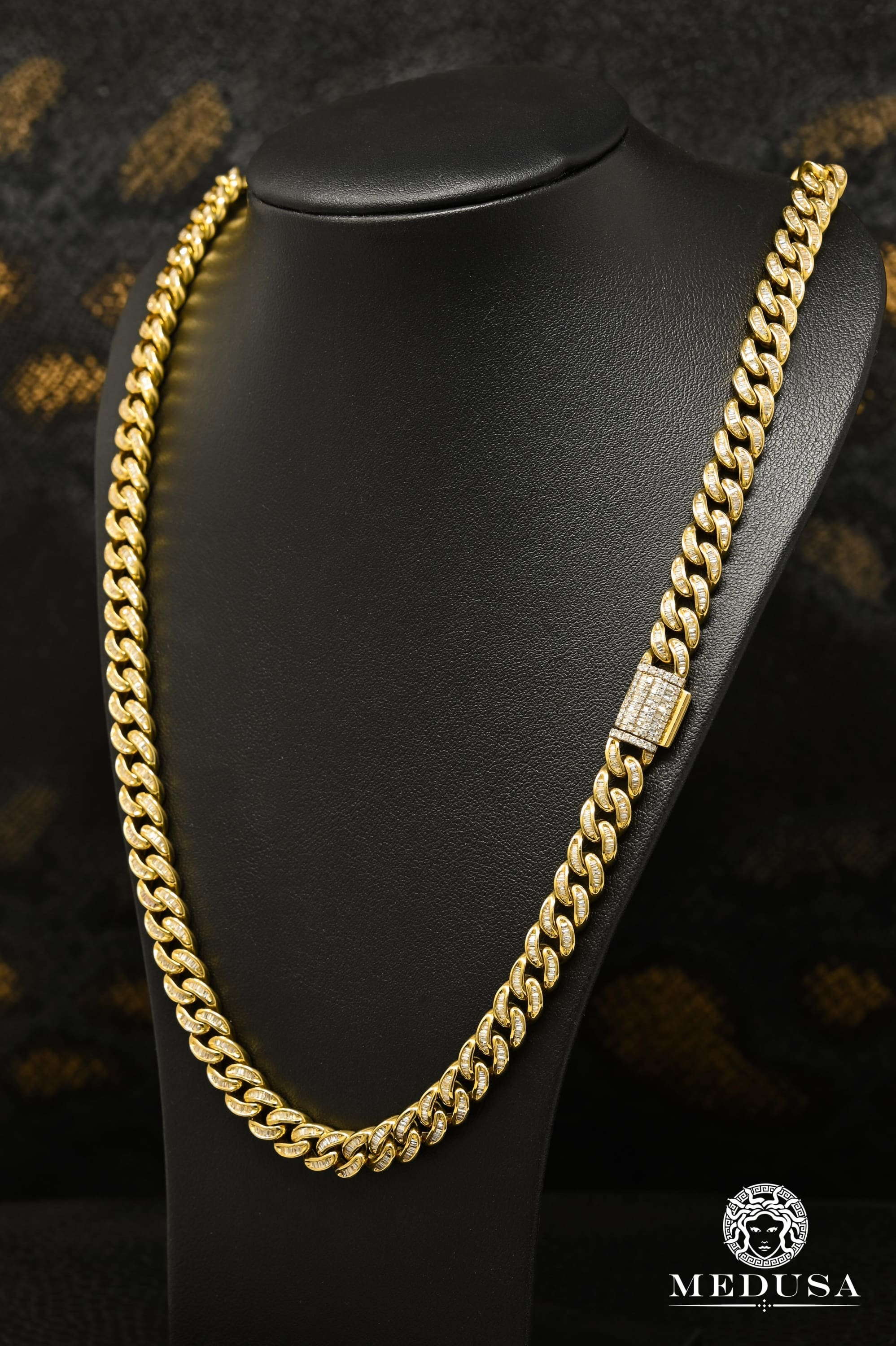 8mm Cuban Link Baguette