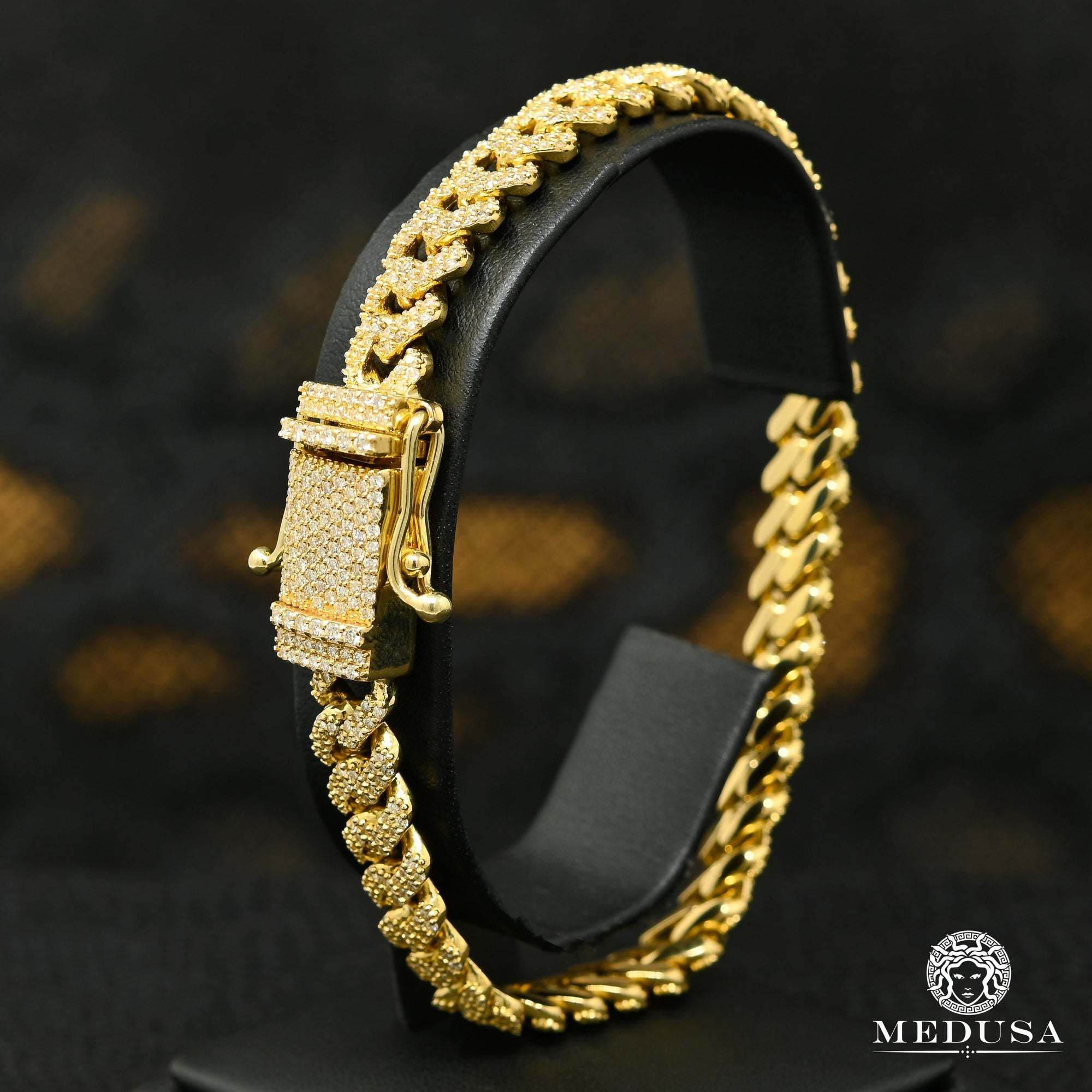 9.5mm Bracelet Cuban Iced Jumbo-Lock