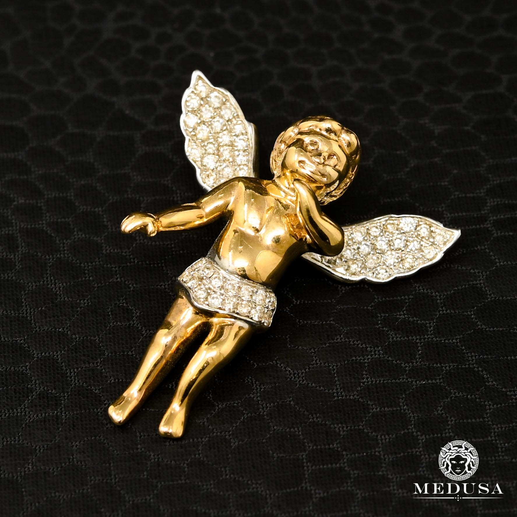 Pendentif à Diamants en Or 10K | Pendentif Divers Angel D3 - Diamant Or Jaune