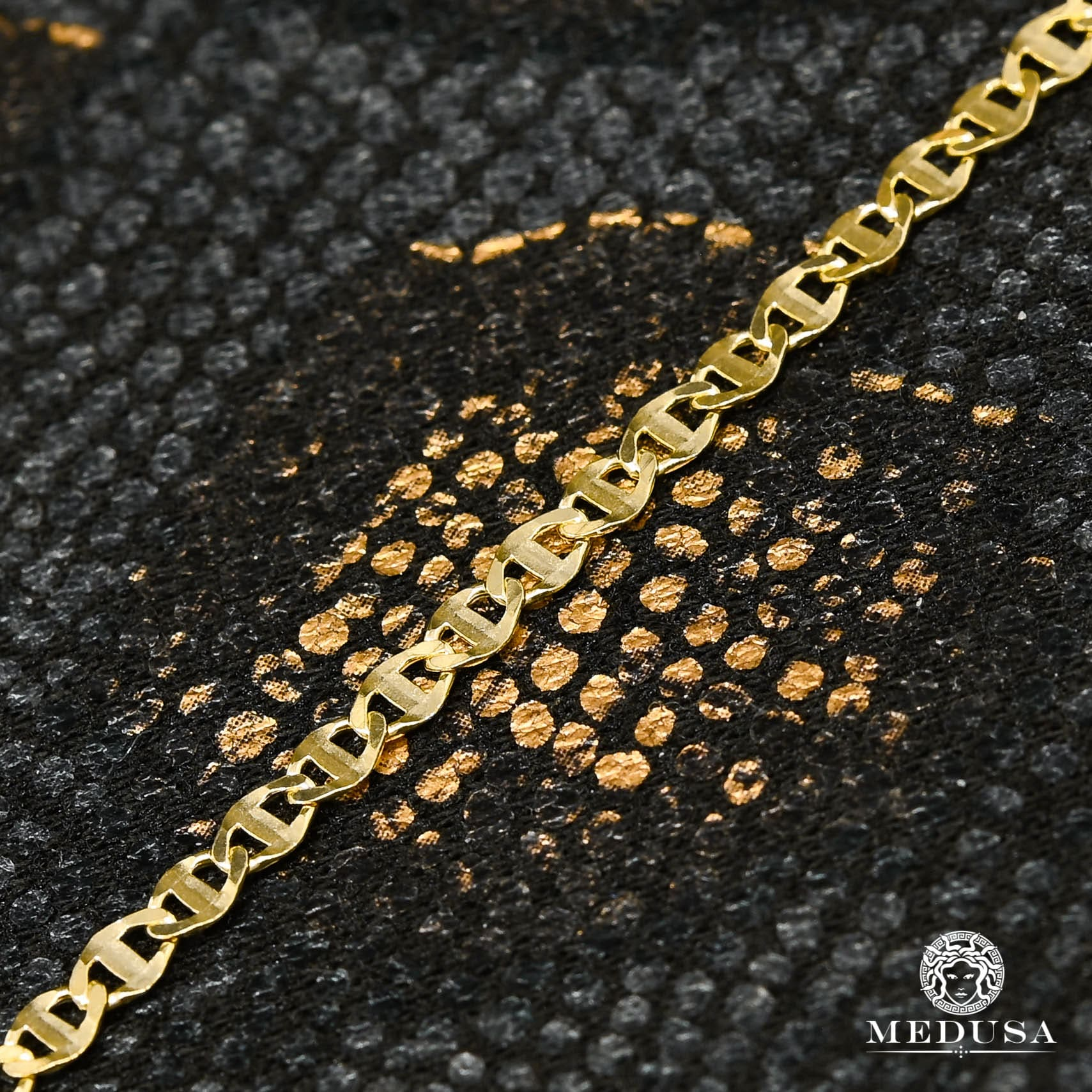 10K Gold Bracelet | Anklet Anklet F1 - Mariner Yellow Gold