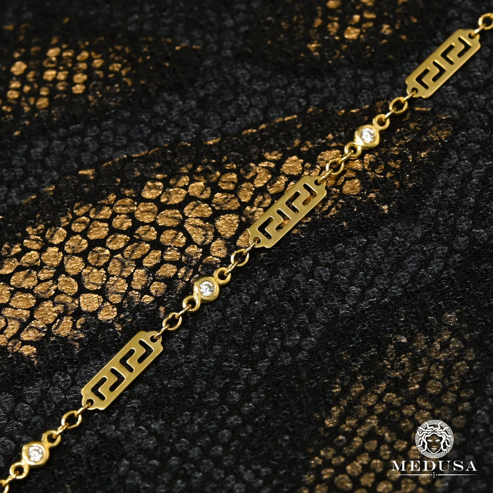 10K Gold Bracelet | Anklet Anklet F11 - Gianni Yellow Gold