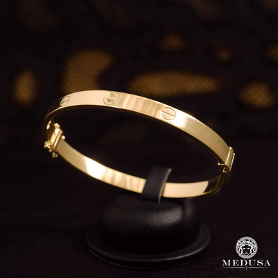 Bracelet Rigide en Or 14K | Bracelet Femme Bangle X1 - Love Or Jaune